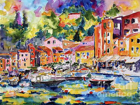 Ginette Callaway - Portofino Italy Travel Europe Watercolor