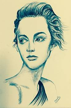 Portrait BW Charcoal by Somnath Kundu