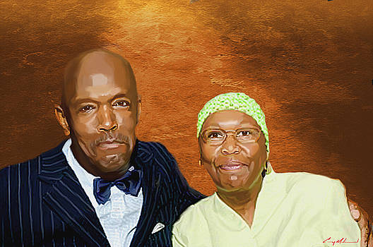 Portrait Mr. and Mrs. Hussain Muhammad by Carey Muhammad