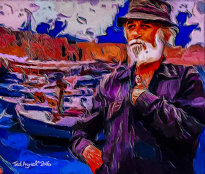 Portrait Of A Fisherman by Ted Azriel