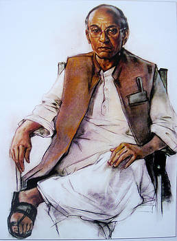 Portrait of a old man by S Viswakarma