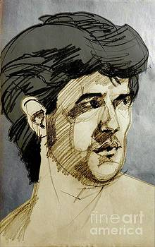Portrait of a Swarthy Young Man by Greta Corens