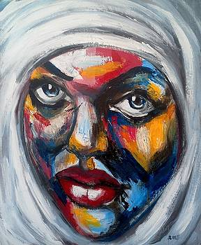 Portrait of a Woman in a Hijab by Valdengrave Okumu