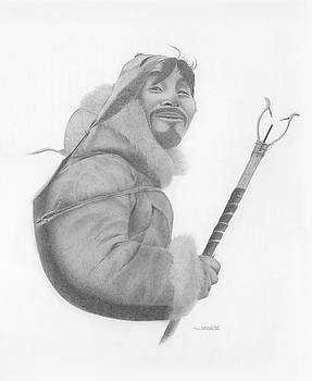 Portrait of an Inuit by Norb Lisinski