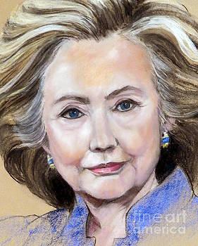 Pastel Portrait of Hillary Clinton by Greta Corens
