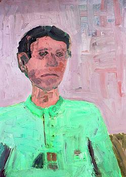 Portrait of sad young man by Aleksandr Volkov
