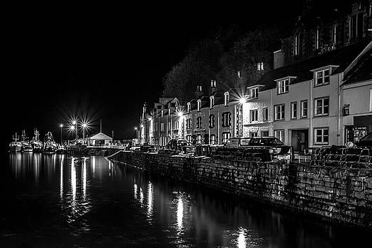 Portree Harbour at Night by Derek Beattie