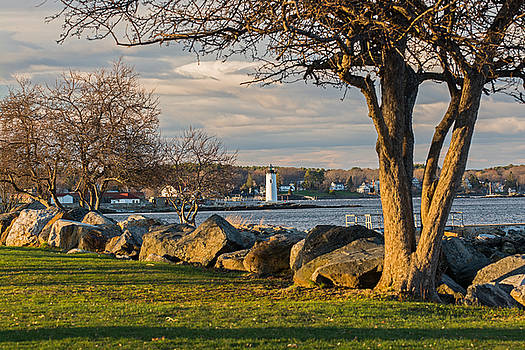 Portsmouth Harbor Light at New Castle Commons by Nancy  de Flon