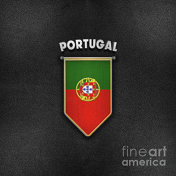 Portugal Pennant with high quality leather look by Carsten Reisinger