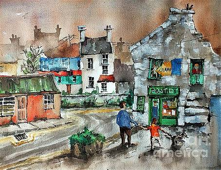 Post Office Mural in Ennistymon Clare by Val Byrne