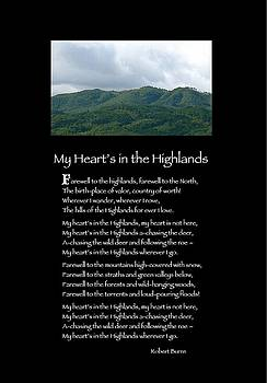 Poster Poem - My Heart's in the Highlands by Poetic Expressions