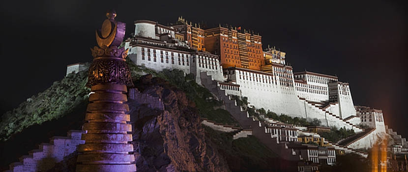 Potala Palace At Night. Historic by Phil Borges