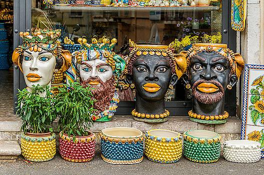 Pottery Shop Taormina Sicily by Xavier Cardell
