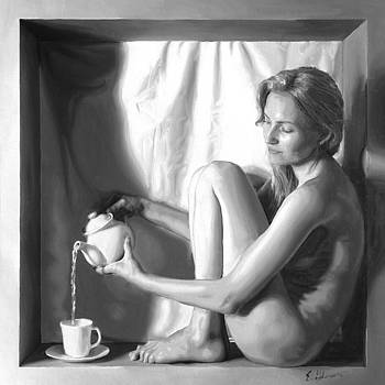 Pouring tea by E Gibbons