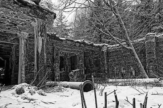 Power Plant in Winter Monochrome by Cathy Mahnke