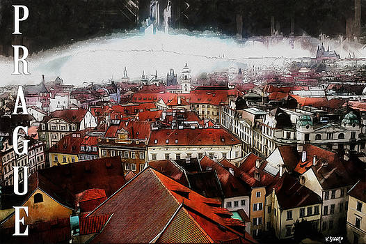 Prague Old Town Poster by Kai Saarto