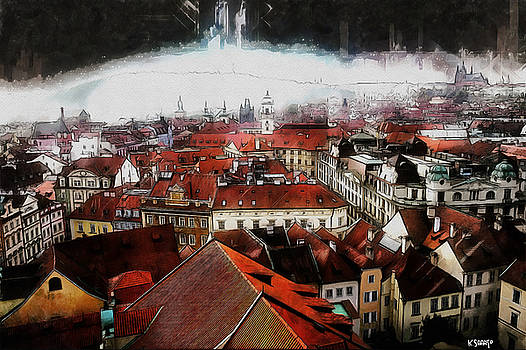 Prague Skyline by Kai Saarto