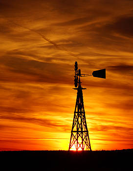 Prairie Windmill by Keith Bridgman
