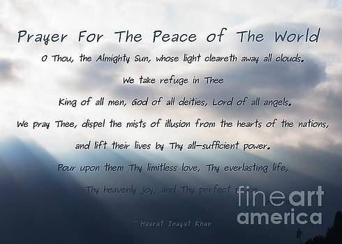 Prayer For The Peace of The World by Agnieszka Ledwon