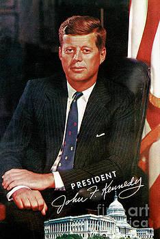President John F. Kennedy Vintage Postcard by Carsten Reisinger