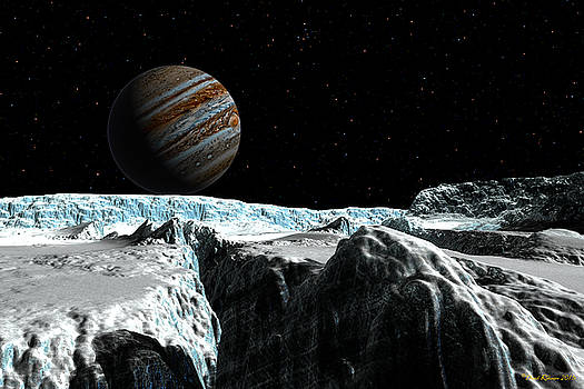 Pressure ridge on Europa by David Robinson