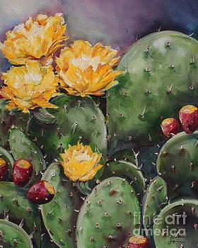 Prickly Pear Blooms by Kristine Kainer