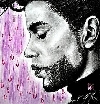 Prince.. purple rain - drawing by Emhi Artem