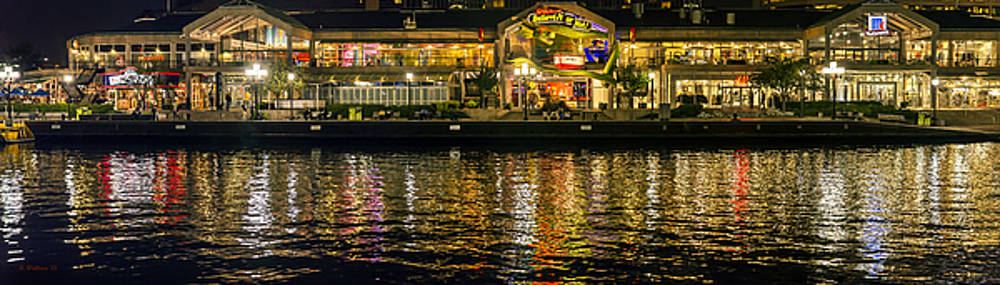 Promenade Reflections - Night Pano by Brian Wallace