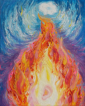 Anne Cameron Cutri - Prophetic Message Sketch 16 Listen to the Benevolent Flame Look for the Promise