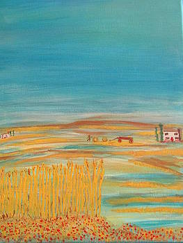 Provence Wheat Harvest by Sharyn Winters