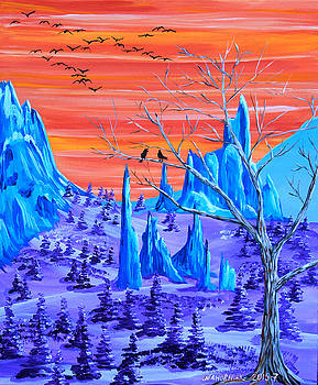 Psychedelic Garden of the Gods by Mike Nahorniak