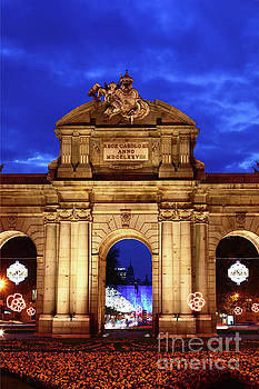 James Brunker - Puerta de Alcala and Christmas Lights Madrid