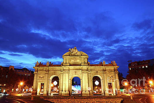 James Brunker - Puerta de Alcala at Blue Hour Madrid