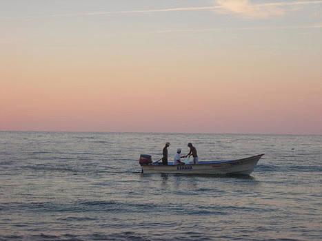 Puerto Vallarta Fishermen  by Renee McDaniel