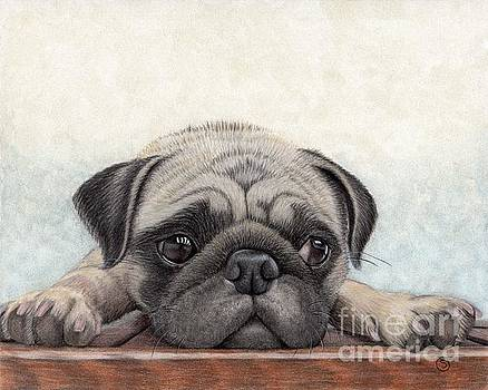 Pug - Waiting for Your Return by Sherry Goeben