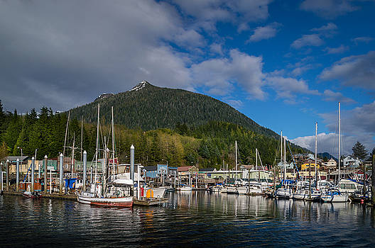Pulling into Ketchikan Harbor by Michael J Bauer