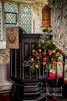 Adrian Evans - Pulpit and Flowers