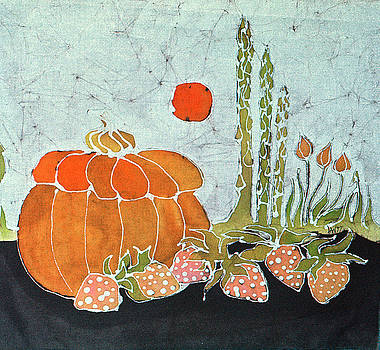 Pumpkin and Asparagus by Carol  Law Conklin