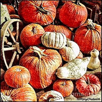 Pumpkins In The Barn by MaryLee Parker