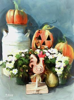 Pumpkins On My Porch by Shane Guinn