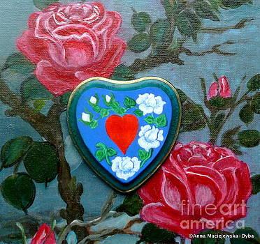 Pure Folk Heart 2 by Anna Folkartanna Maciejewska-Dyba