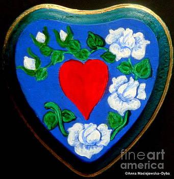 Pure Folk Heart by Anna Folkartanna Maciejewska-Dyba