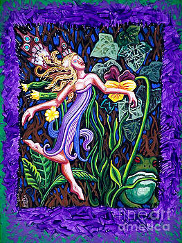 Purple and Green Fairy by Genevieve Esson