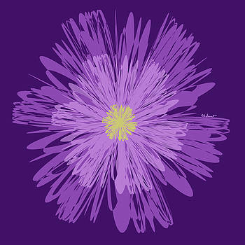 Purple Flower 2 by Kate Farrant