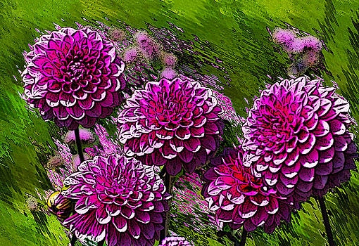 Purple Flowers     by Bruce Iorio