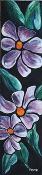 Purple Flowers 2 by Ellen Young