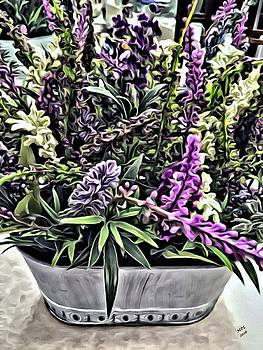 Purple Flowers In Bloom by Marian Palucci-Lonzetta