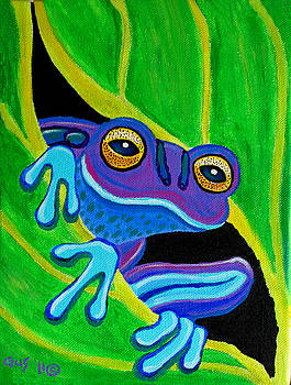 Nick Gustafson - Purple frog peeking through
