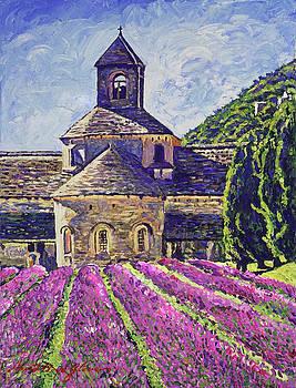 Purple Gardens Provence by David Lloyd Glover