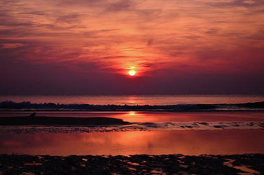 Purple haze with red sunrise by Julianne Felton